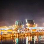 Подъемный мост в Санкт-Петербург, Россия — Стоковое фото #18813321