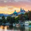 Overview of old Prague - Stock Photo