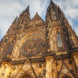 St. Vitus Cathedral exterior in Prague — Stock Photo