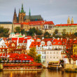 Overview of old Prague from Charles bridge side — Stock Photo #19781869