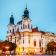 St. Nicolas church at Old Town square in Prague — Stock Photo
