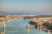 ハンガリー、ブダペストのパノラマの概要 — ストック写真