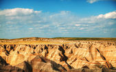 Vacker utsikt i badlands national park, south dakota, usa — Stockfoto