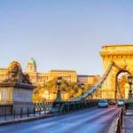 Szechenyi chain bridge in Budapest, Hungary — Stock Photo #20248157