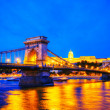 Szechenyi chain bridge in Budapest, Hungary — Stock Photo