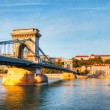Stock Photo: Szechenyi chain bridge in Budapest, Hungary