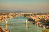 Panoramic overview of Budapest, Hungary — Stock Photo