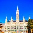Rathaus (City hall) in Vienna — Stock Photo