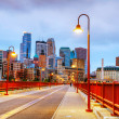 Downtown minneapolis, minnesota en la noche — Foto de Stock