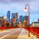 Downtown Minneapolis, Minnesota at night time — Stock Photo