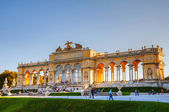 Gloriette Schonbrunn in Vienna at sunset — Stock Photo