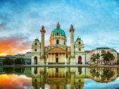 Karlskirche w wiedniu, austria — Zdjęcie stockowe