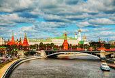 Moskova'daki kremlin genel bakış — Stok fotoğraf