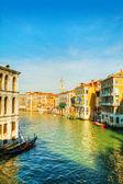 View to Grande Canal in Venice from the Rialto bridge — Stock Photo