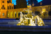 Fountain at the Schonbrunn palace in Vienna — Stock Photo