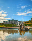 Palácio belvedere em viena, áustria — Foto Stock