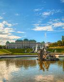 Belweder w wiedniu, austria — Zdjęcie stockowe