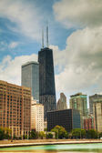 Downtown Chicago, IL on a sunny day — Stock Photo