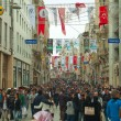Stock Photo: Crowded istiklal street with tourists in Istanbul
