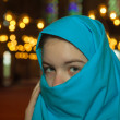 图库照片: Teen muslim girl at mosque