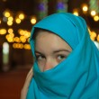 Teen muslim girl at mosque — Foto de stock #26495819