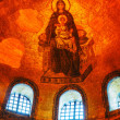 Interior of Hagia Sophia in Istanbul, Turkey early in the mornin - Stock Photo