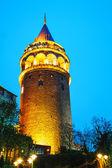 Wieża Galata (christea turris) w istanbul, Turcja — Zdjęcie stockowe
