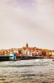 Overview of old Istanbul with Galata tower — Stock Photo
