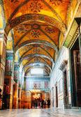 Wnętrze świątyni hagia sofia w stambule, turcja — Zdjęcie stockowe