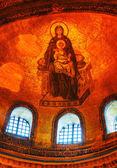 Interior of Hagia Sophia in Istanbul, Turkey early in the mornin — Stok fotoğraf