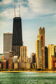 Downtown Chicago, IL in the morning — Stock Photo