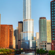 Trump International Hotel and Tower in Chicago, IL in morning — Stock Photo