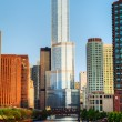 Stock Photo: Trump International Hotel and Tower in Chicago, IL in morning