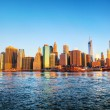 New York City panorama — 图库照片