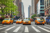 Yellow taxis at the New York City street — Stock Photo