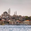 Istanbul cityscape with Suleymaniye Mosque — Stock Photo