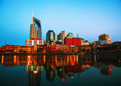 Downtown Nashville cityscape in the morning — Stock Photo