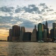 New York City skyscrapers in the evening  — Stock Photo