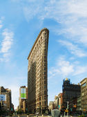 Flatiron (Fuller) builsing in NYC in the morning — Stock Photo