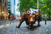 Charging Bull (Bowling Green Bull) sculpture in New York — Stock Photo
