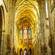 St. Vitus Cathedral interior in Prague — Stock Photo #29325765