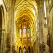 St. Vitus Cathedral interior in Prague — Stock Photo
