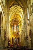 St. Vitus Cathedral interior in Prague — Stock Photo