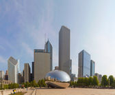 Cloud Gate sculpture in Millenium Park — Stock Photo