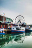 Navy Pier in Chicago in the morning — Stock Photo
