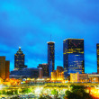 Stock Photo: Downtown Atlantat night time