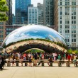 Stock Photo: Cloud Gate sculpture in Millenium Park