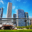 Jay Pritzker Pavilion in Millennium Park in Chicago — Stock Photo