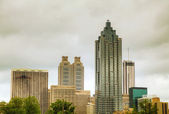 Downtown Atlanta on a cloudy day — Stock Photo