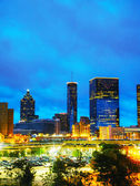 Downtown Atlanta at night time — Stock Photo